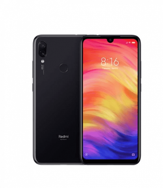 Смартфон Xiaomi Redmi Note 7 128GB/4GB (Black/Черный)